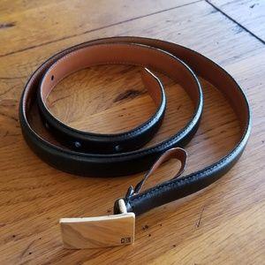 "Ralph Lauren genuine Italian leather 3/4""belt"